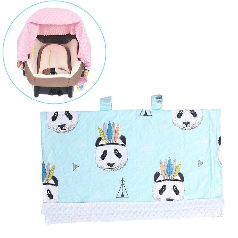 2018 Baby Infant Newborn Cartoon Soft Blanket Nursing Car Seat Canopy Pattern Cover JUL13_20