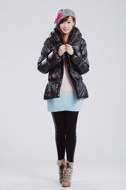 Free shipping_2010 winter long sleeve  women Down jackets,New Arrival winter down coat for woman in hot sale