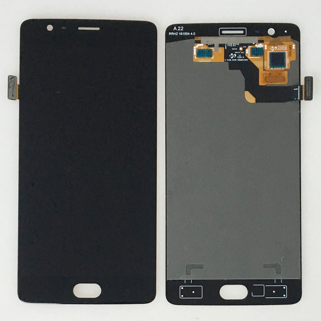 """Black Display For OnePlus 3 Three 1+3 A3000 A3003 5.5"""" LCD Display Touch Digitizer Screen Glass Assembly"""