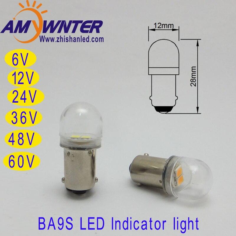T4W 24V BA9S E10 60V Led Bulbs 6V 12V White Car 36 48V LED Cars 2835 ...