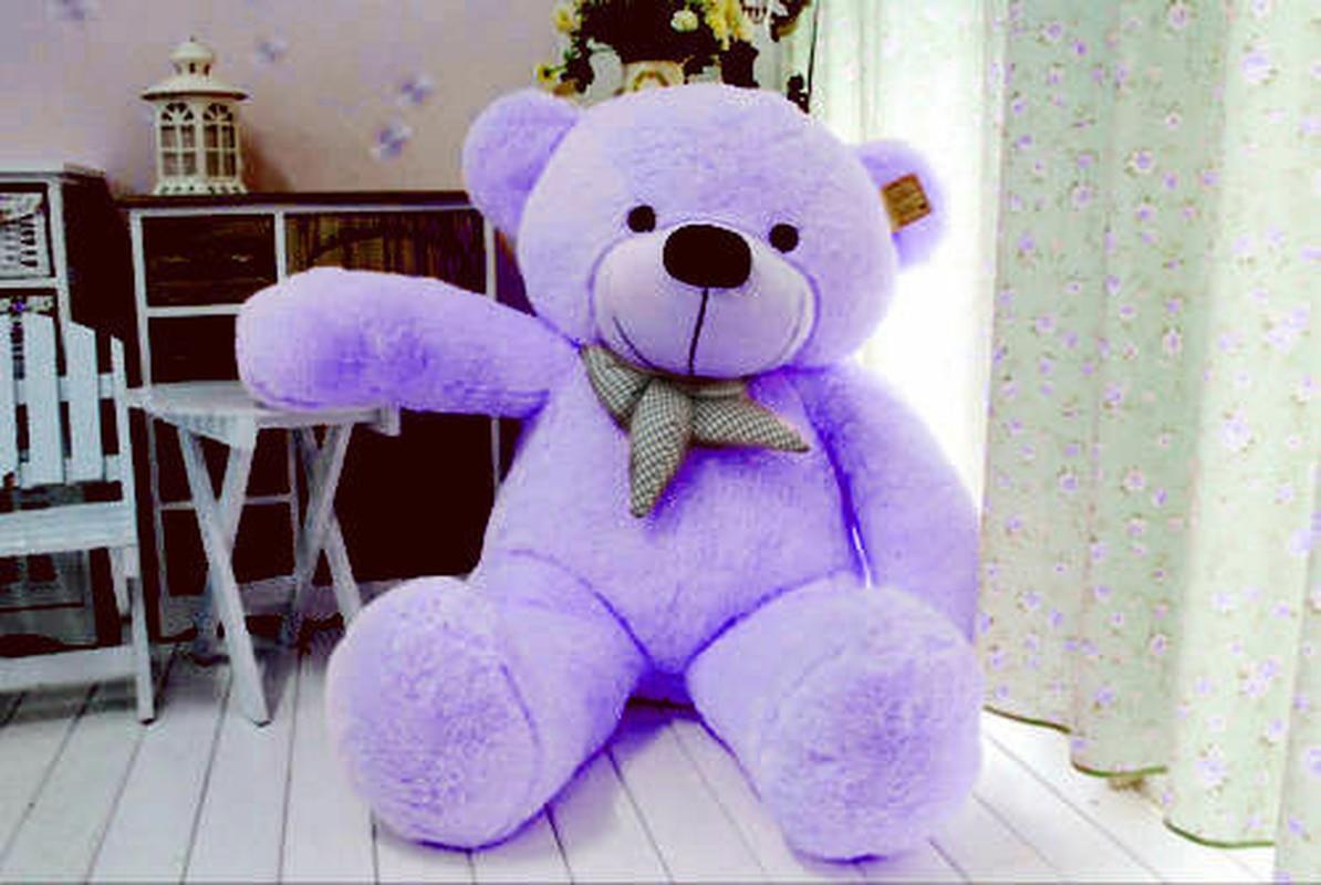 "24/"" Giant Big Teddy Bear Purple Plush Soft Toys Doll Pillow Stuffed Animals Gift"