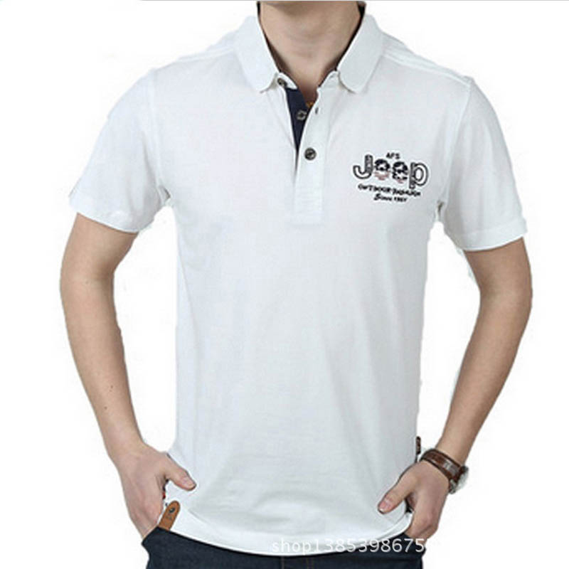 AFS JEEP Brand Summer Polo Shirt Men Casual Cotton Turn-down Collar Short Sleeve Breathable Men Polo Shirt Polos Para Hombre