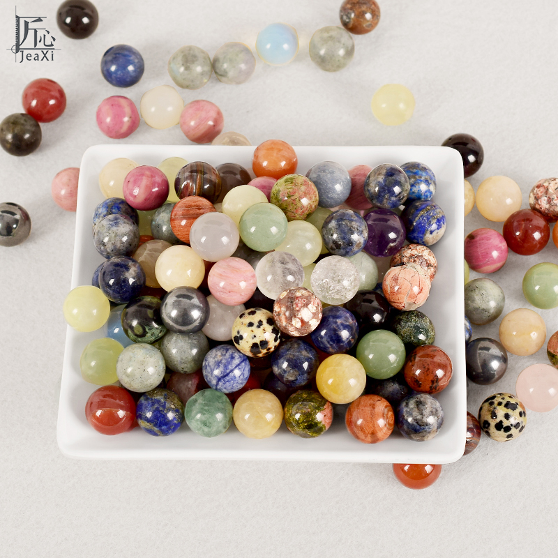 100g Crystal Ball Undrilled Bead 18mm Natural Stone Mixed Sphere Chakra Crystal Quartz Healing Reiki Craft Home Decorative Bead