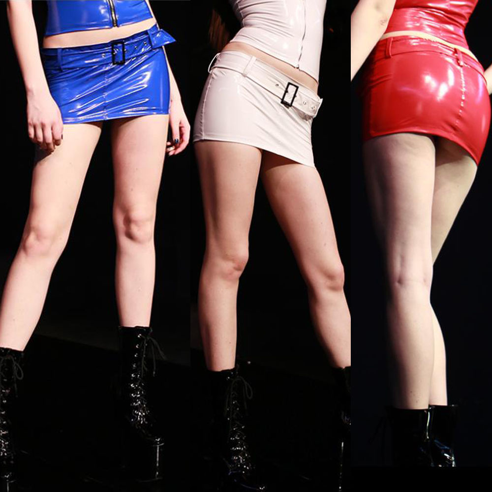 Plus Size Glitter Leather Skirt Low Waist Sash Gothic Vestido Latex Miniskirt Wetlook Minifalda Kawaii Jupe Femme Pencil Skirts tights
