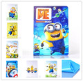 new Anime Cartoon Despicable Me Minion Flip Wallet Stand PU Leather Case Cover Protector Defender For Apple Ipad mini mini 2 3