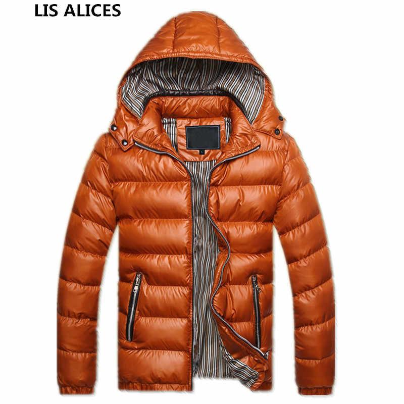 2019 冬ジャケット男性厚く暖かいブラウスパーカーメンズカジュアルフード付きジャケットアウターオーバーコート男性ダウンウインドブレーカートレンチコート