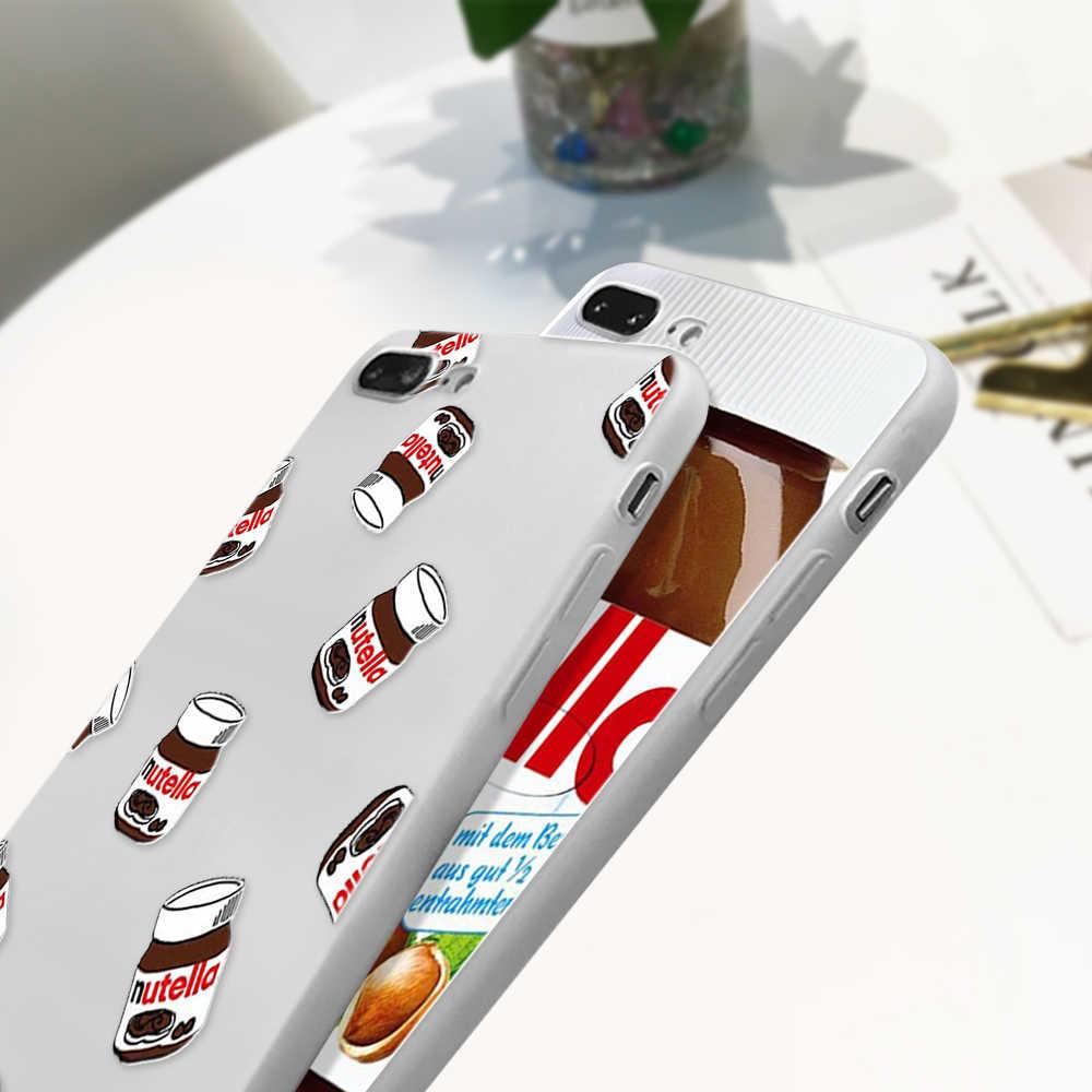 Makanan Yang Indah Nutella Kasus untuk Samsung Galaxy A50 A70 A3 A5 2016 A7 2017 A9 A8 Plus 2018 A30 A40 s10 Plus S10e M20 M30 G530 Cover