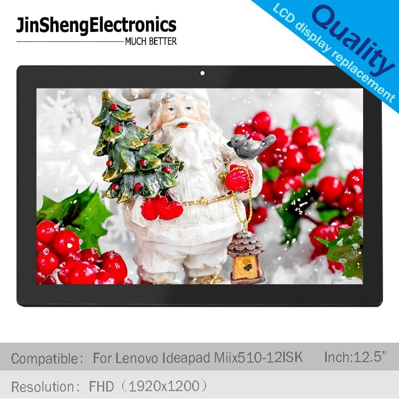 Para Lenovo Ideapad Miix 510-12ISK 80U1 12,2 ''pulgadas FHD LCD LED pantalla táctil digitalizador de cristal sin marco de pantalla