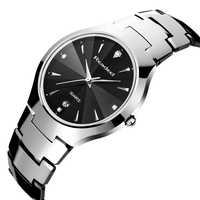 Relógio masculino readeelยี่ห้อหรูหราเต็มทังสเตนเหล็กอะนาล็อกแสดงวันที่ของผู้ชายนาฬิกาควอตซ์ธุรกิจนาฬิกาผู้ชายนาฬิกา2017