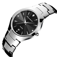 relogio masculino Readeel Luxury Brand Full Tungsten Steel Analog Display Date Men's Quartz Watch Business Watch Men Watch 2017