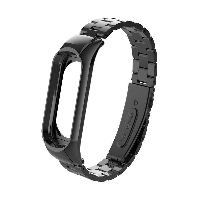Metal Strap for Original Xiaomi Mi Band 3 Miband 3 Smart Bracelet Wrist Bands Three Beads mi band 3 Wearable Devices