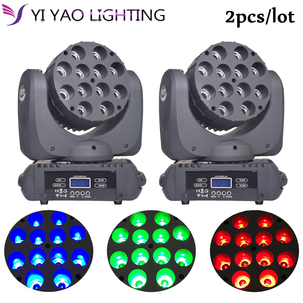150W LED Beam Moving Head Light Dj Equipment 12x12W RGBW  With Show KTV Disco DJ Party For Stage Lighting 2pcs/lot