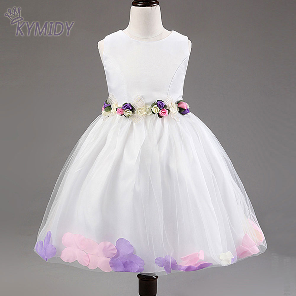 Spring Flower Girl Dress For Wedding Party Kids Dresses With