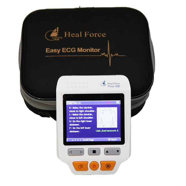 Hot Sale Portable Easy ECG EKG Handheld Heart Rate Monitor Sensor PRINCE 180D Heart  Monitor