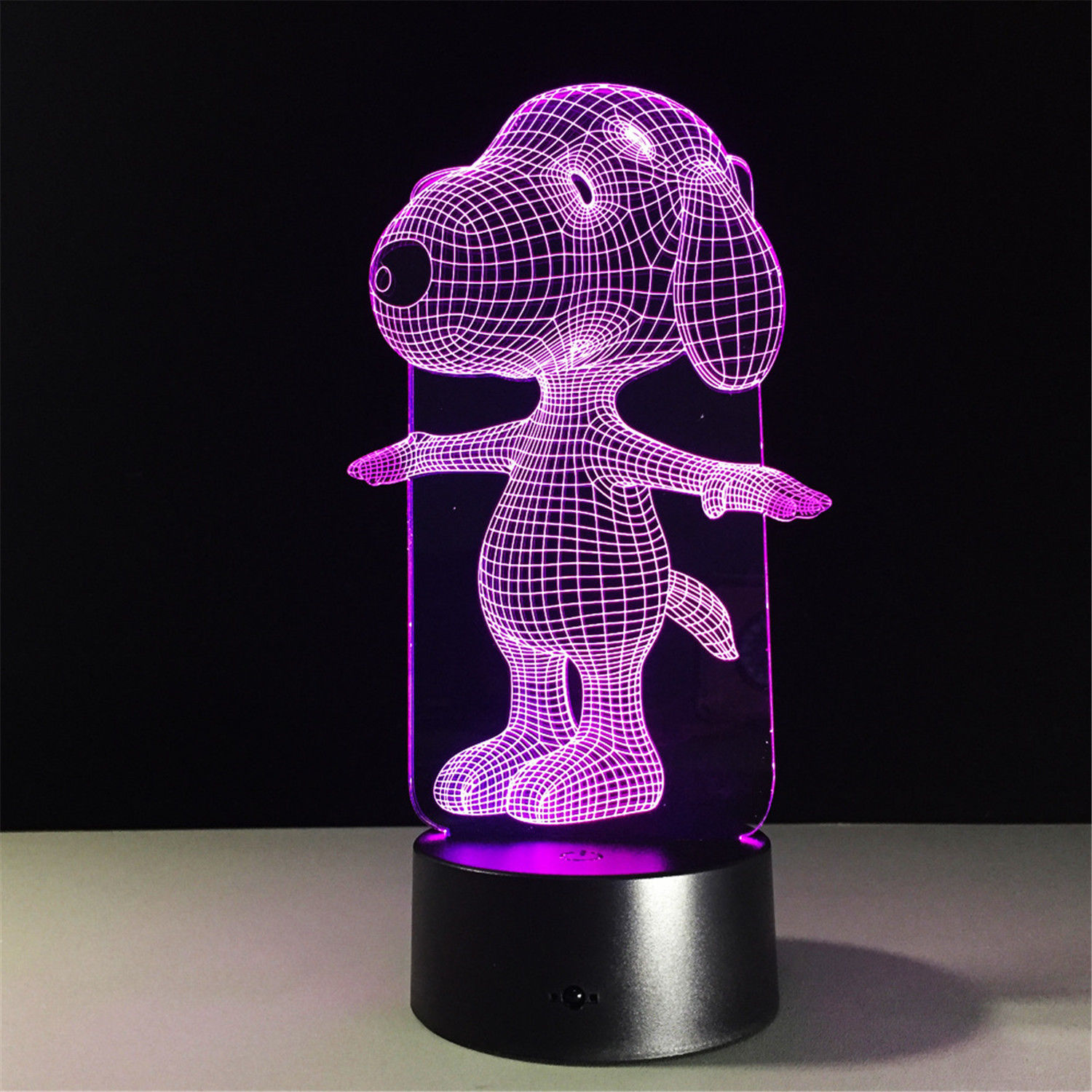 Visual Led Night Light Illusion Lamp Light Dog 3D Illusion Night Light Color Change Touch Switch Table Desk Led Lamp