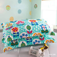 Flower Decorative Pillowcase Cotton Pillow Case For Kids 48x74cm Size 2 PCS