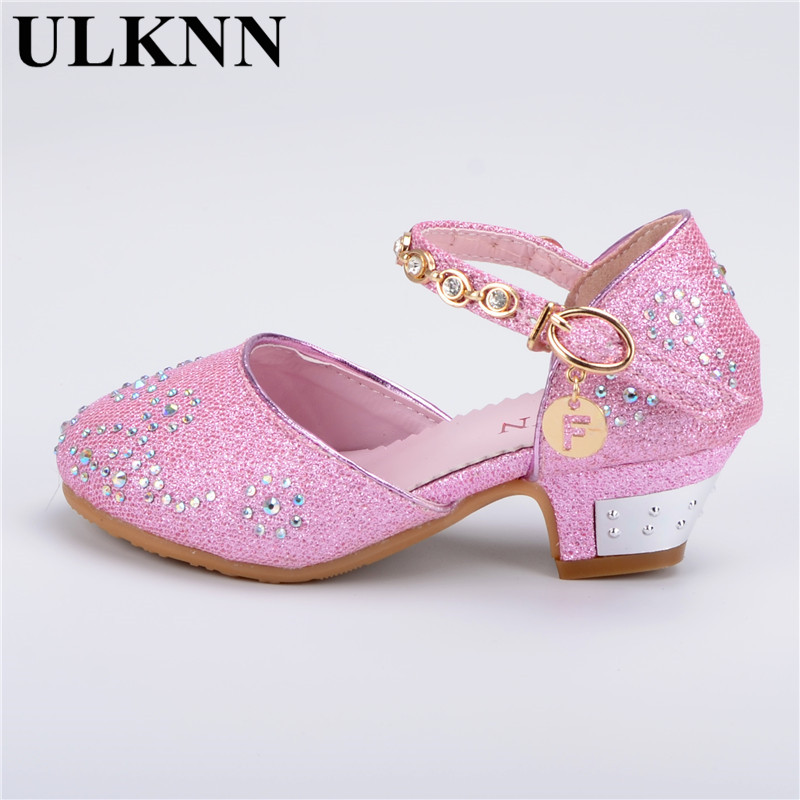 Dance Shoes For Girl Leather Princess Baby Shoes Lady High Heels Kids New Top Children Sandals Spring Party Shoe Tide Large Size  wendywu spring autumn children fashion pu leather heeled shoe for baby girsl rhinestone princess dance shoes gold toddler
