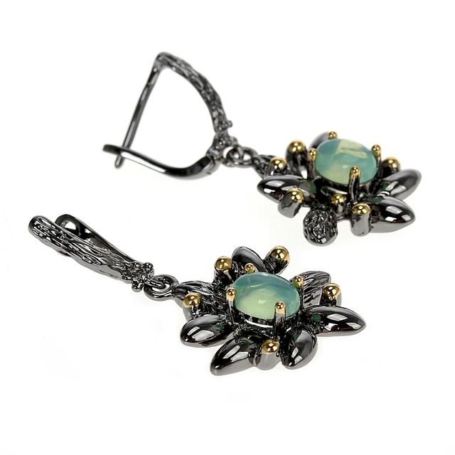 Vintage Flower Styled Drop Earrings