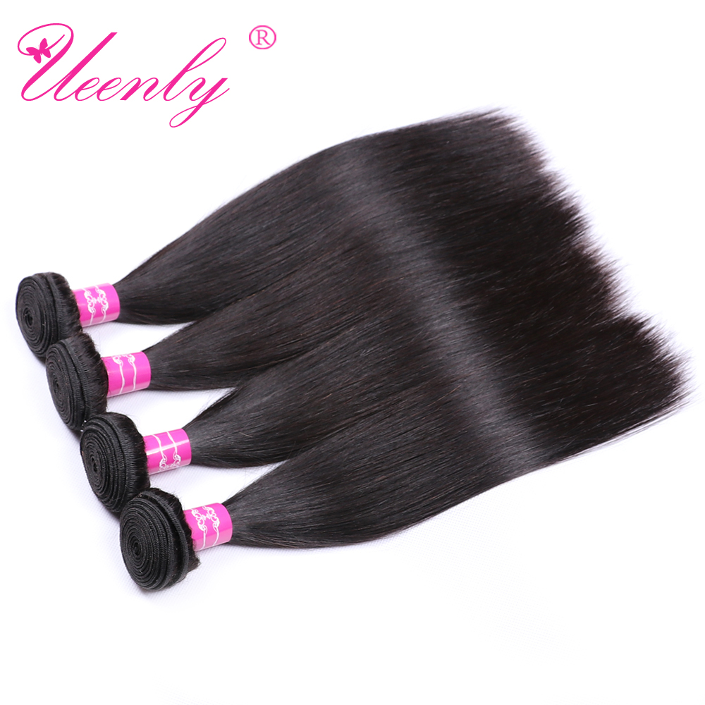 UEENLY Brazilian Straight Hair-Bundles Human-Hair Weave Non-Remy Natural-Color 10pcs/Lot