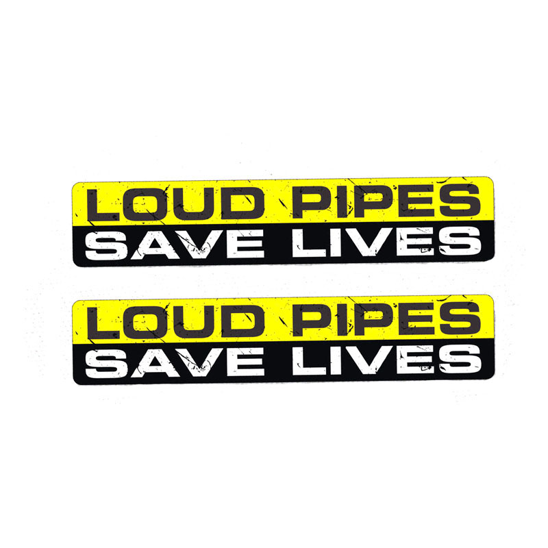 Bumper Stickers 15.2X6.6CM Loud Pipes Save Lives Car Sticker Vinyl Decal Funny Cartoon Black//Silver Bumper Stickers Color Name : Black