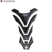 KODASKIN Motorcycle Tank Pad Stickers Protectors 3D Carbon Fiber for YAMAHA YZF R1