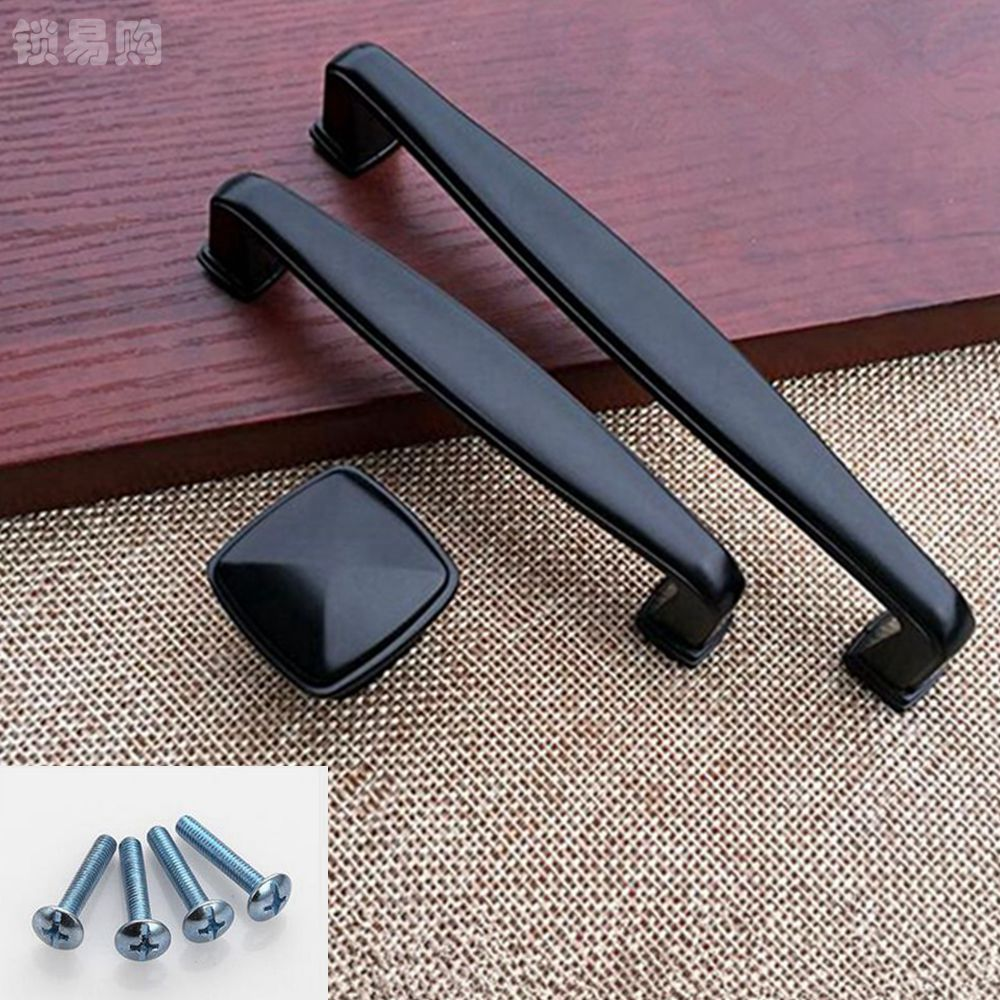 1pc Black European Door Pull Handles Cabinet Knobs For Kitchen Cupboard Drawer Knobs Hardware Accessories WSY9015 furniture drawer handles wardrobe door handle and knobs cabinet kitchen hardware pull gold silver long hole spacing c c 96 224mm