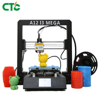 Impresora 3D Drucker DIY Kit A12 I3 Mega Full Metal Frame Filament Sensor 3.5 Inch TFT Screen 3D Printer