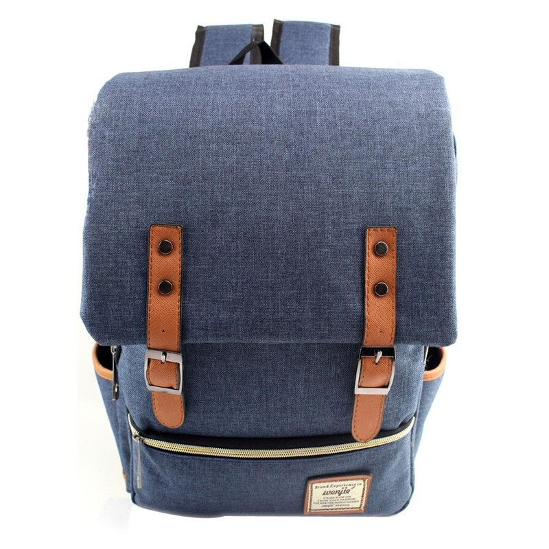 Retro Women Men Vintage Canvas Backpacks School Bag Simple Designer Ladies Big Phone Purse Book Notebook
