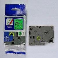 24mm preto em fita tze TZe 751 tze751 verde tz751 irmão tze 751 Compatível Impressora de impressora de etiquetas P toque fitas label maker|p-touch printer|printer ribbon|brother label -