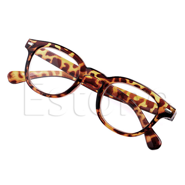 1pair Retro Round Frame Rimed Reading Glasses Eyeglasses Leopard Black +1 to +4 gafas lectura