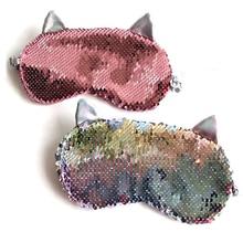 Variety Sleeping Eye Mask Unicorn Sequin Cartoon Plush Toy Eye Shade Cover Eyeshade Relax Eye Mask Sleep Travel Home Party Gifts