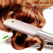 Professional Hair Straightener Ceramic Flat Iron Straightening Iron 2 in 1 hair Curler Silk curling irons LCD Styling Tools 32mm ceramic anion hair curler comb hairbrush lcd curling straighting straightener brush roller iron fashion styling tools s34
