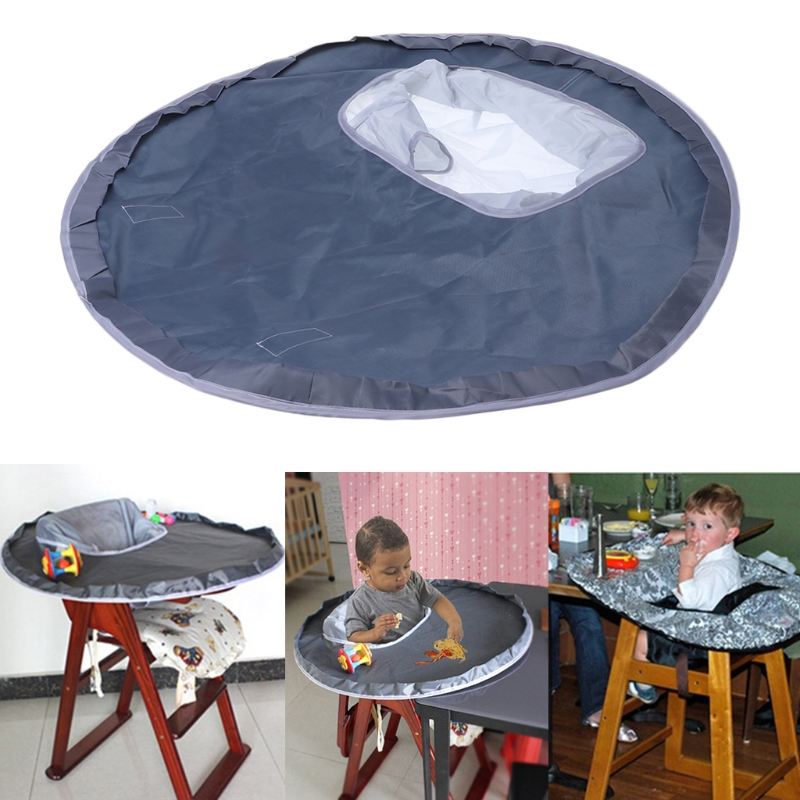 Baby Eating Table Mat Feeding Chair Cushion Waterproof Round Folding Infants Pad