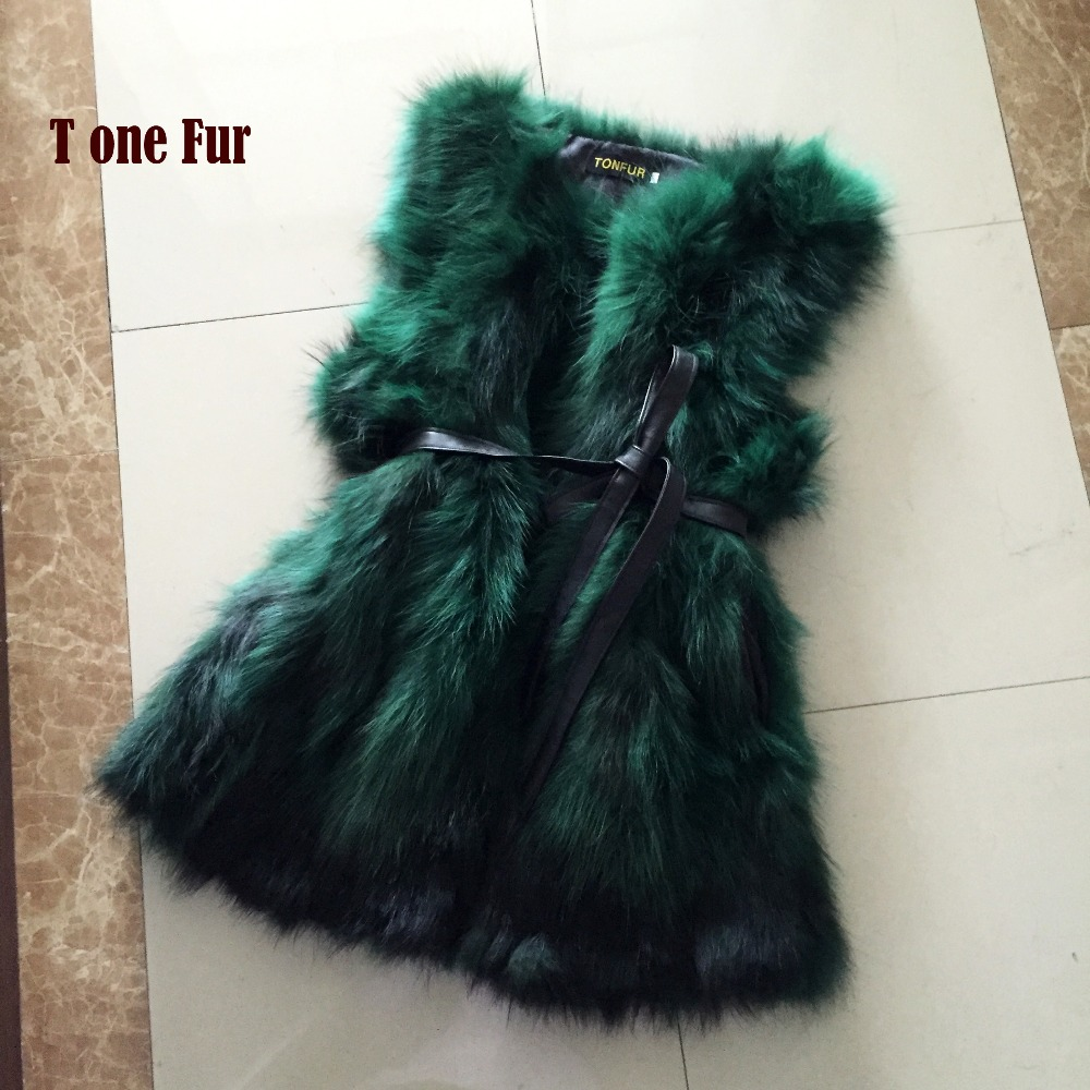 Top Fashion Brand Real Raccoon Fur Gilet Waistcoat Natural Genuine Fur Vest Wholesale Hot Low Discount