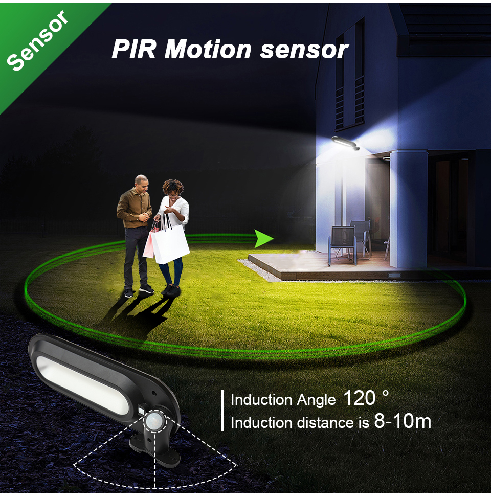CHIZAO Eco Friendly and Wall Mounted Outdoor Solar Charge Motion Sensor LED with 600 Lumens 11