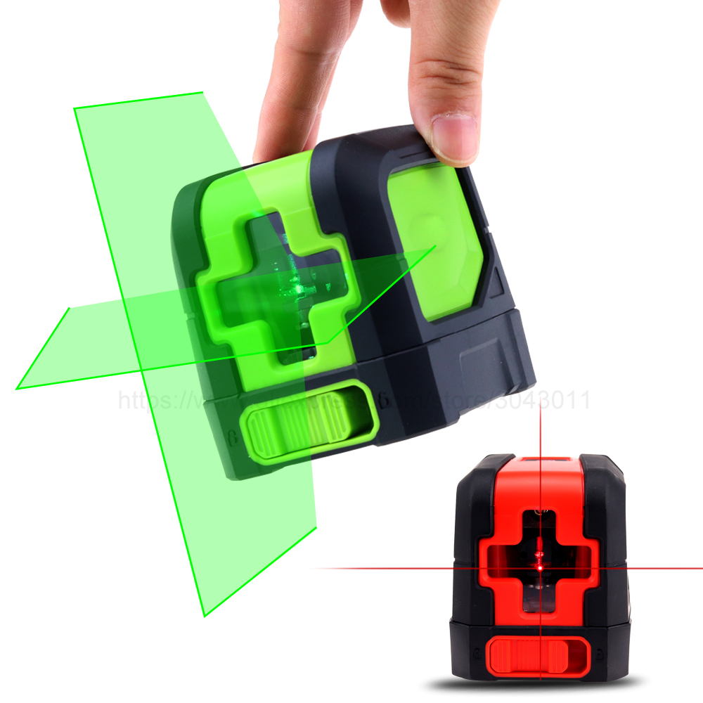 Red or Green Beam Cross Line laser level Self Leveling Tools Vertical & Horizontal Lasers Band Mounting Clamp