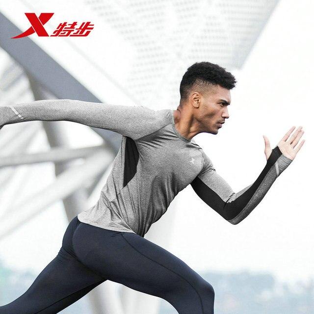 45ba38fa408 882229039129 Xtep Men's Long Sleeve Knitwear 2018 Autumn New Long T Running  Equipment Elastic Comfort Shirt