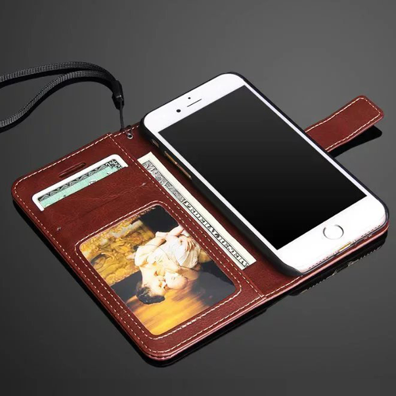 Original Phone cover For Apple iPhone 6 6S 7 Plus leather case Luxury photo frame flip Protector case for iPhone 7 6 6S Plus