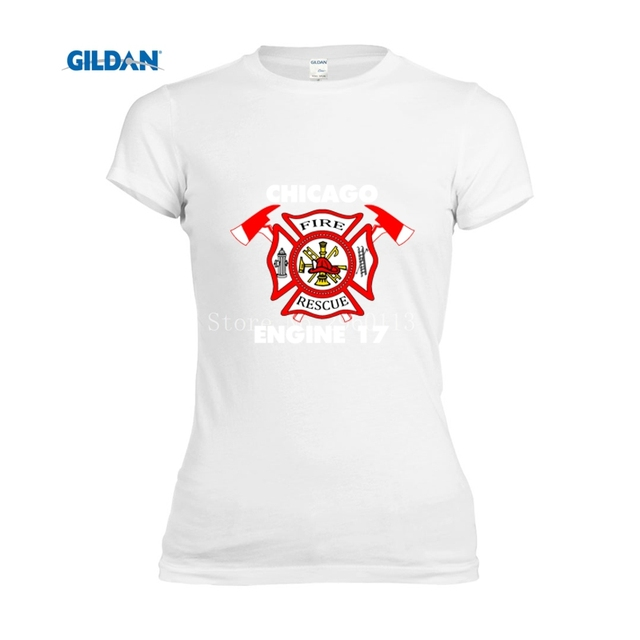Tee Tops Sleeve New Female Shirt Fighter Chicago Fire T Short 2017 cLq3j54ARS