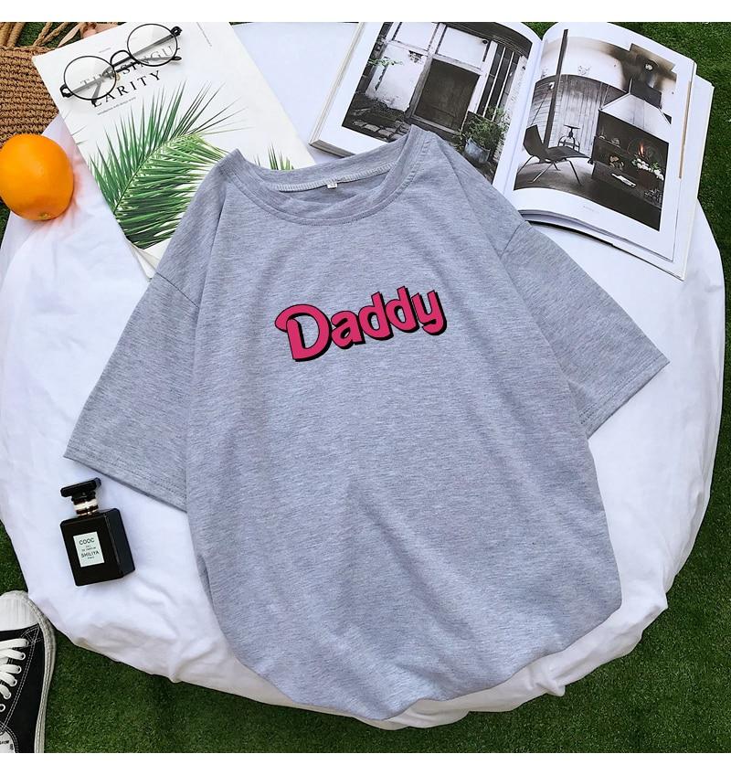 T Shirts Women Summer Funny DADDY Letter Print Tshirt Harajuku Casual Streetwear Kawaii Plus Size Camiseta Mujer Tee Shirt Femme (11)