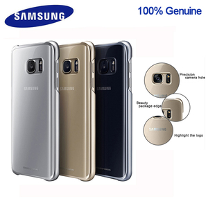 100% Original Samsung smartphone cover for Galaxy S7 S7Edge Higt-Quality PC Anti-Drop Electroplating Transparent case(China)