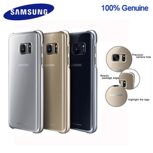 100% Original Samsung smartphone cover for Galaxy S7 S7Edge Higt-Quality PC Anti-Drop Electroplating Transparent case