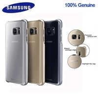 100% Original Samsung smartphone cubierta para Galaxy S7 S7 Edge de alta calidad Anti-caída galvanoplastia funda transparente