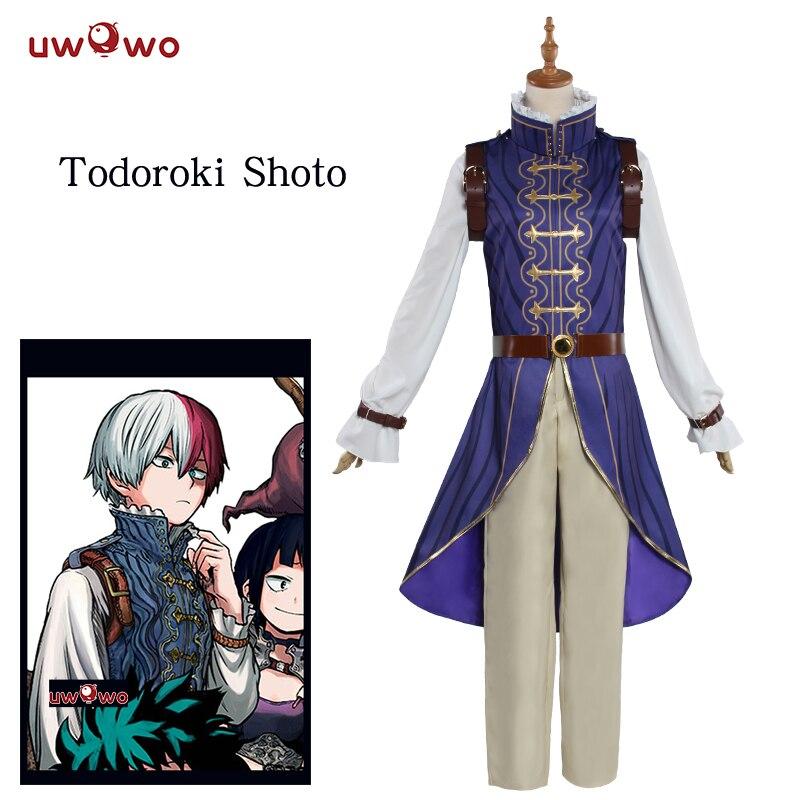 Uwowo shotuo todoroki cosplay anime boku nenhum herói academia cosplay meu herói academia traje todoroki shoto