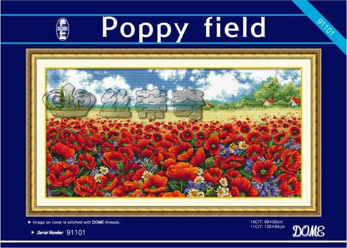 Poppyfield Cross Stitch Kit
