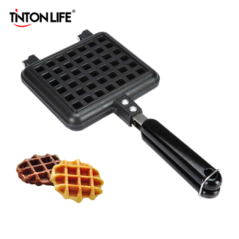 цены TINTON LIFE Waffle Mould Non-stick Cookie Cake Mold Waffles Pans DIY Muffins Mould for Love Breakfast Bakeware