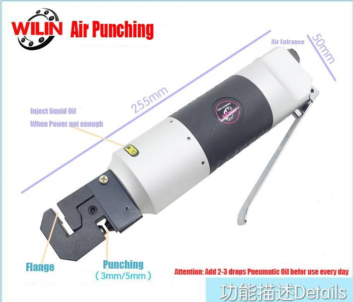 Aletler'ten Pnömatik Aletler'de Profesyonel pnömatik aletler hava araçları hava yumruk flanş aracı işareti delme Metal katlama makinesi 3mm için 5mm delik perçin title=