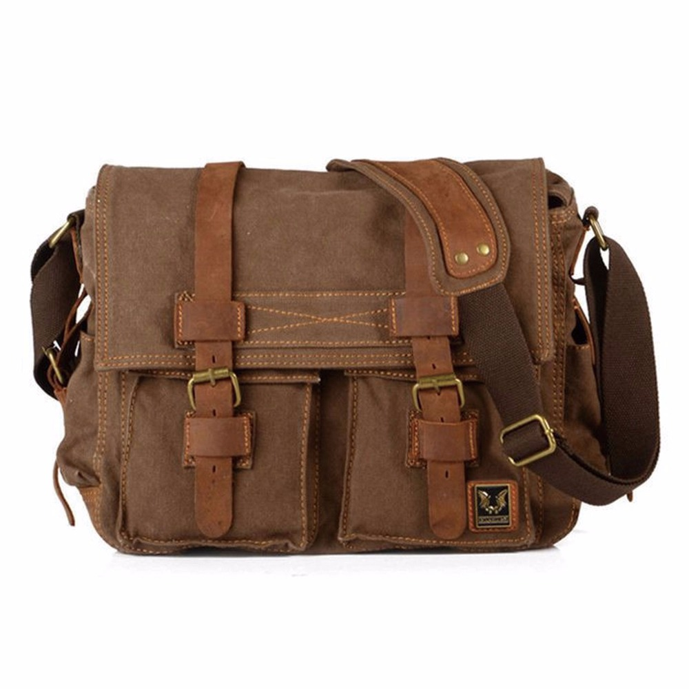Vintage waterproof  DSLR Camera Bag Messenger Shoulder Bag For Nikon Sony Canon free shipping high quality army green rucksack canvas backpack camera bag for nikon canon sony dslr camera