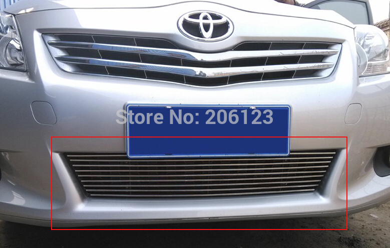 ФОТО High quality stainless steel Front Grille Around Trim Racing Grills Trim For 2011-2012 Toyota Verso EZ