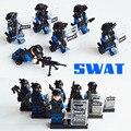Swat mini policía táctica de la policía armada antidisturbios froces especial police figura policía kazi juguetes compatible con lego